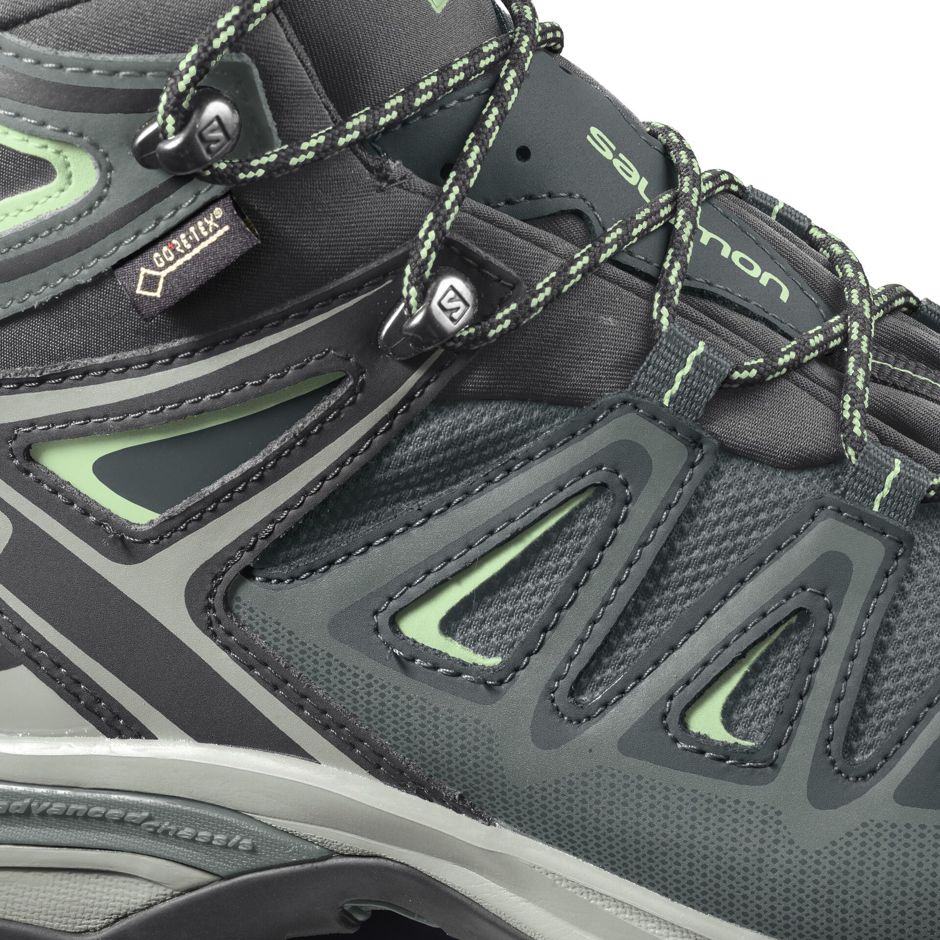 Salomon X Ultra 3 GTX Schuhe Damen balsam greenmineral graybellini